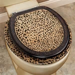 leopard toilet