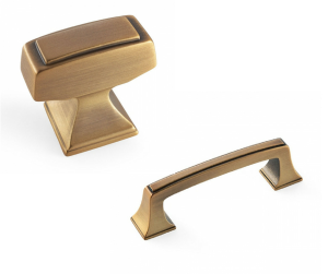 Gilded Bronze Knob and Pull by Amerock