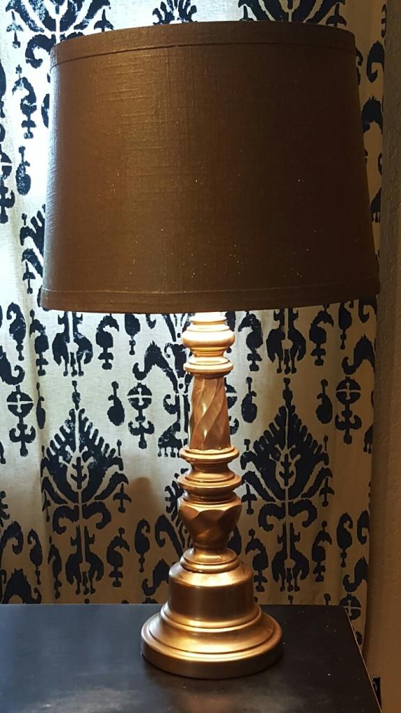 brass candlestick lamp by Diva by Design Harlingen