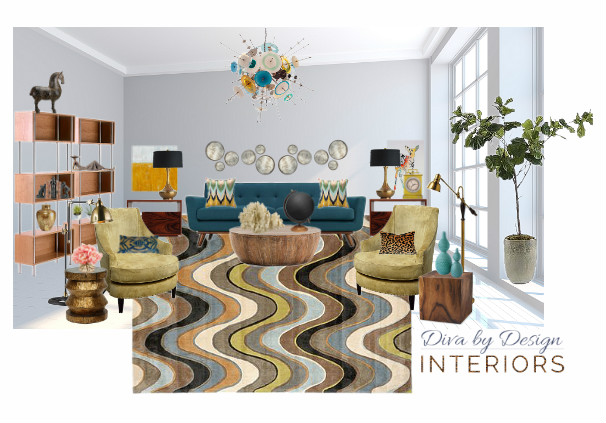 Sample E-design Mood Board from Diva by Design Interiors