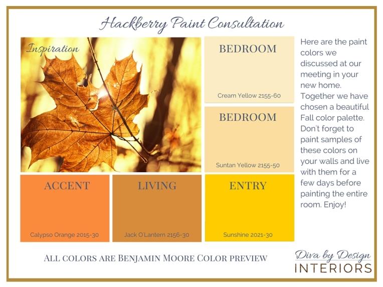 Sample Paint Color Palette