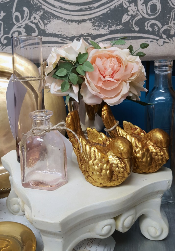 Close-up of home accessory display from Diva by Design